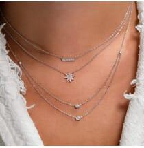 Diamond Starburst Pendant