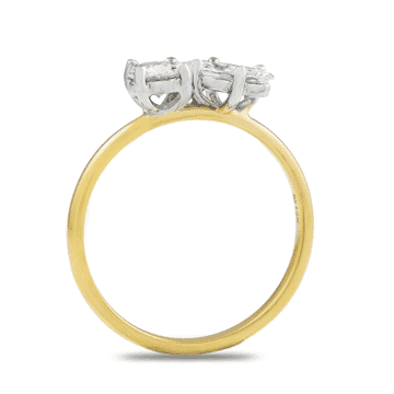 Marquise and Round Petit Diamond Duo Ring
