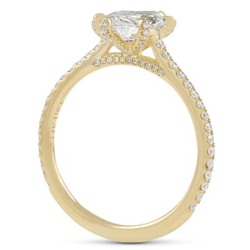 MARQUISE DIAMOND YELLOW GOLD ENGAGEMENT RING