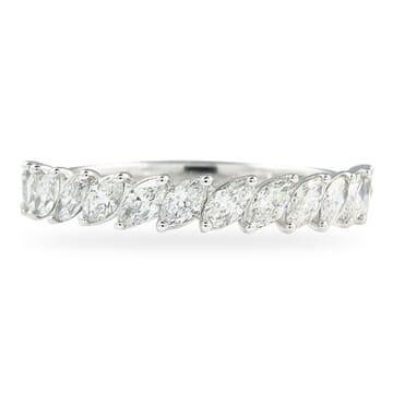 HALFWAY MARQUISE DIAMOND WAVY ETERNITY BAND