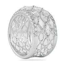 marquise and round diamond wedding band ring