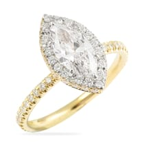 marquise yellow gold engagement ring halo