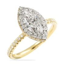 marquise diamond yellow gold engagement ring halo