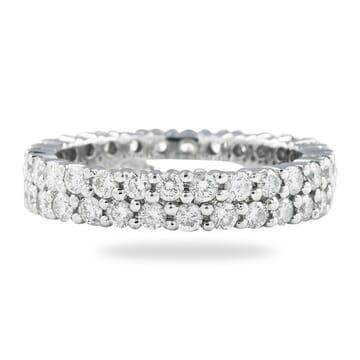 1.68 CT DIAMOND TWO-ROW PRONG SET ETERNITY BAND
