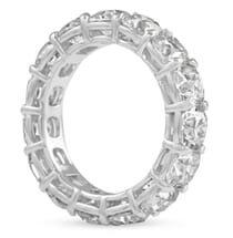 ANTIQUE CUSHION CUT MOISSANITE ETERNITY BAND