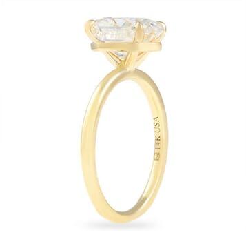 Oval Moissanite Super Slim Band Engagement Ring