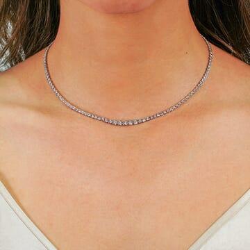 graduated tennis necklace