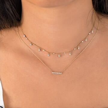 Baguette Bar Necklace