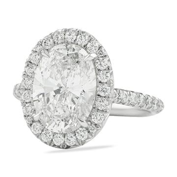 3 carat oval diamond halo ring