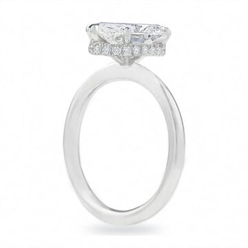 1.8 ct Oval Diamond 'Compass Prong' Engagement Ring