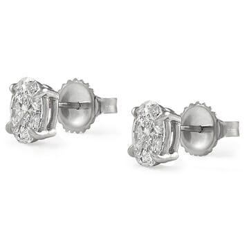 1.41 carat Oval Diamond Studs: GIA