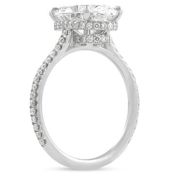 3.06 carat Oval Diamond Double Signature Wrap Ring