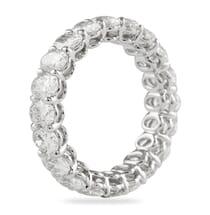 3.65 Carat Oval Diamond White Gold Eternity Band Ring