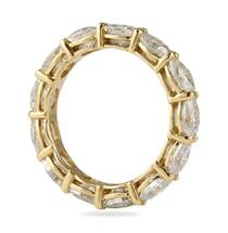 oval moissanite eternity band ring