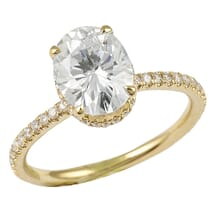 OVAL MOISSANITE YELLOW GOLD ENGAGEMENT RING