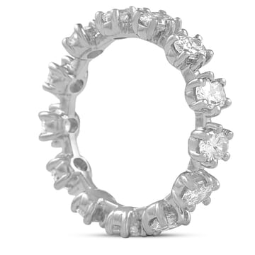 oval diamond eternity band weighing .15 carats each stone