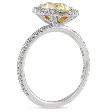 1.50 carat Oval Yellow Diamond Engagement Ring