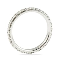 FISHTAIL PAVE ETERNITY BAND