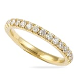 .85 CT ROUND DIAMOND YELLOW GOLD PAVE ETERNITY BAND