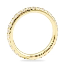 YELLOW GOLD PAVE ETERNITY BAND