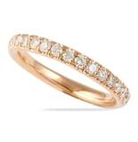 .85 CT ROUND DIAMOND ROSE GOLD PAVE ETERNITY BAND