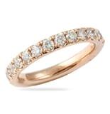 1.4 CT ROUND DIAMOND ROSE GOLD PAVE ETERNITY BAND