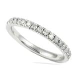 .55 CT ROUND DIAMOND PLATINUM PAVE WEDDING BAND