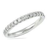 .75 CT ROUND DIAMOND PLATINUM PAVE WEDDING BAND