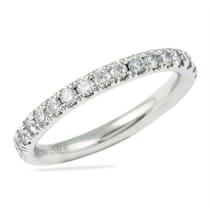 platinum three quarter diamond wedding band