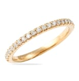 .40 CT ROUND DIAMOND YELLOW GOLD PAVE WEDDING BAND