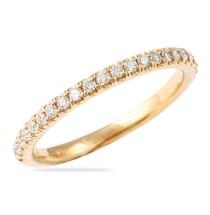 thin rose gold wedding band