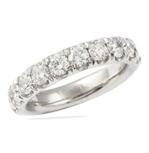 WIDE PAVE DIAMOND WEDDING BAND 4 MILLIMETERS WIDE