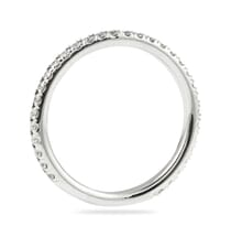 delicate pave wedding band in white gold