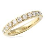 1.40 CT ROUND DIAMOND YELLOW GOLD PAVE ETERNITY BAND