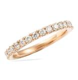 1.1 CT ROUND DIAMOND ROSE GOLD BAND SQUARE EDGE