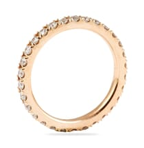ROSE GOLD PAVE ETERNITY BAND