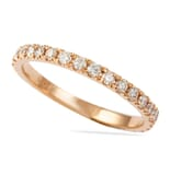 .50 CT ROSE GOLD PAVE WEDDING BAND SQUARE EDGE