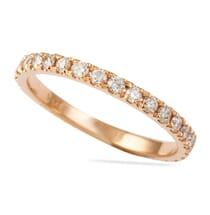 rose gold squared off eternity band