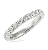 1.40 CT PAVE DIAMOND WHITE GOLD ETERNITY BAND