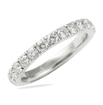 PAVE ETERNITY BAND WITH SQUARE EDGE