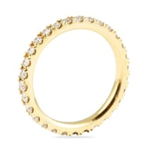 YELLOW GOLD ETERNITY BAND WITH DIAMONDS