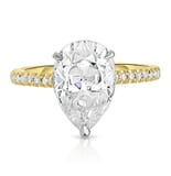 Pear Shape Moissanite Two-Tone Invisible Gallery™ Ring