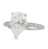 2.51 ct Pear Shape Diamond Pave Engagement Ring