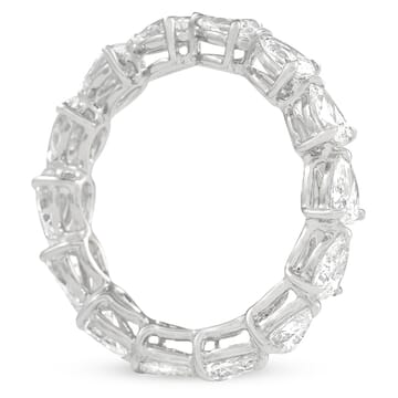 east west pear shape eternity band