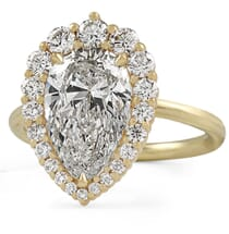 2.80 ct Pear Shape Diamond Graduated Halo Ring