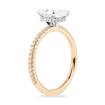 TWO-TONE PEAR SHAPE ENGAGEMENT RING