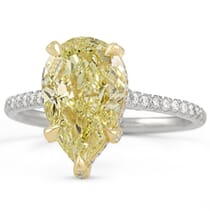 3 carat pear shape yellow diamond engagement ring