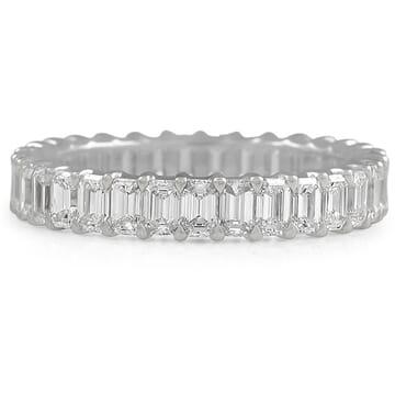 2.4 CT EMERALD CUT DIAMOND ETERNITY BAND