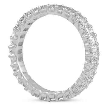 2.4 CT EMERALD CUT DIAMOND ETERNITY BAND