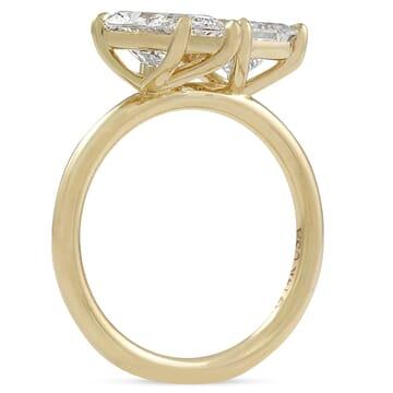 Pear and Princess Cut Diamond Duo Engagement Ring